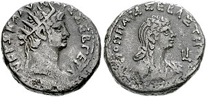 Nero - Coin of Nero and Poppaea Sabina