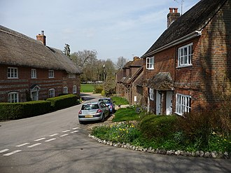 St. Mary Mead - The house on the left features as the home of Miss Jane Marple (as played by Joan Hickson) in St. Mary Mead.