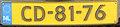 Netherlands diplomatic license plate CD-81-76.jpg