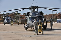 HH-60G Pave Hawks of the 106th Rescue Wing at Francis S. Gabreski Air National Guard Base.