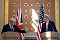 Newly Installed British Foreign Secretary Johnson Turns Over the Floor to Secretary Kerry During a Joint News Conference in London (28381231866).jpg