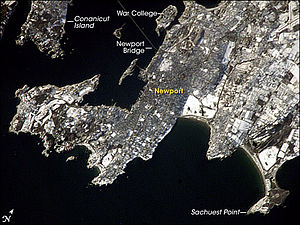 Newport as seen from the International Space Station.
