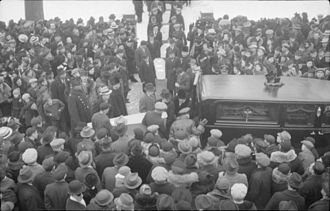 Hugh Graham, 1st Baron Atholstan - Lord Atholstan's funeral on January 31, 1938.