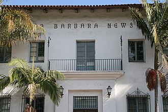Santa Barbara News-Press - The face of the News-Press building in De La Guerra Plaza.