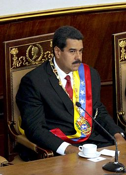 Nicolás Maduro assuming office