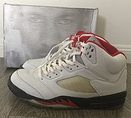 newest 5a148 12d08 Nike Air Jordan V, (Fire Red Colorway)