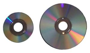 Nintendo optical discs - Image: Nintendo Game Cube Game Disc and Wii Optical Disc