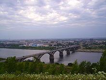 """Согласно проекту ОАО  """"Мостотрест """", н. К 2017 году в Нижнем Новгороде планируется открыть новый мост через Волгу."""