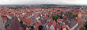 Nördlingen - Panorama of Nördlingen from the Daniel