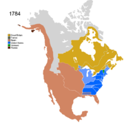 Map showing Non-Native Nations Claim_over NAFTA countries c. 1784
