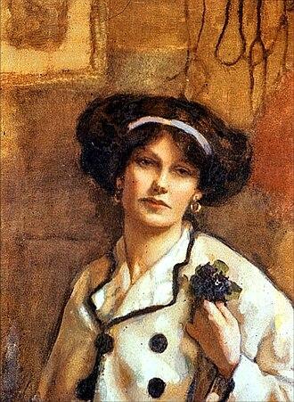 Scottish Women's Hospital at Royaumont - Norah Neilson Gray self-portrait (1918)