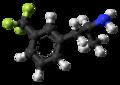 Norfenfluramine molecule ball from xtal.png