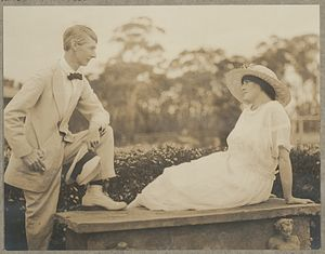 Rose Lindsay - Norman and Rose Lindsay by photographer Harold Cazneaux ca.1920