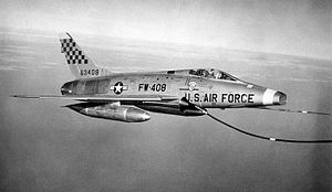 614th Tactical Fighter Squadron - North American F-100D-85-NH Super Sabre 56-3408 614TFS abt 1960
