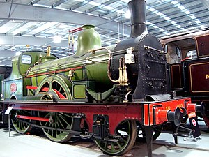 North Eastern Railway 901 Class 2-4-0 locomotive at Locomotion, Shildon, Co. Durham. (3066267027).jpg