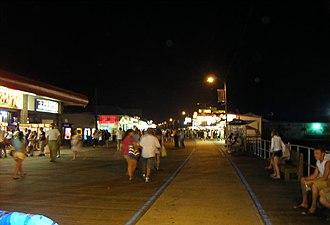 North Wildwood, New Jersey - North Wildwood boardwalk at night.