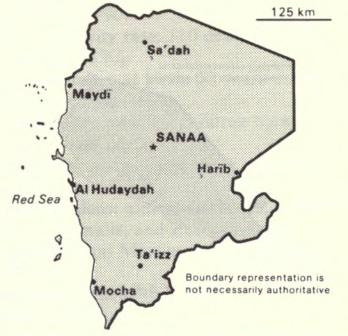 Map of North Yemen North Yemen-CIA WFB Map.png