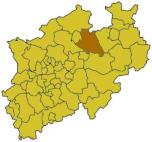 Warendorf (district) - Image: North rhine w waf