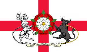 The flag of Northamptonshire