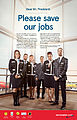 "Norwegian's US-based cabin crew urges President Obama to ""Save Our Jobs"".jpg"