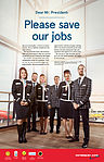 """Norwegian's US-based cabin crew urges President Obama to """"Save Our Jobs"""".jpg"""