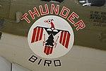 "Nose art on B-17G Flying Fortress '238050 - BN-U' (N900RW) ""Thunderbird"" (39677442954).jpg"