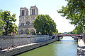 Notre-Dame Cathedral and Pont au Double, Paris 2014.jpg