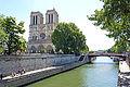 Notre-Dame Cathedral and Pont au Double, Paris 2014.jpg