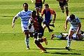 Nyanga running toward the goal line of Racing Metro.jpg