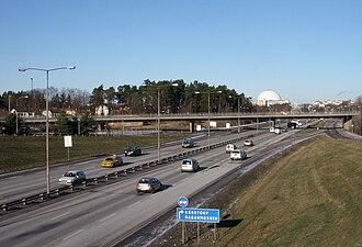 Swedish national road 73 - Nynäsvägen in Stockholm