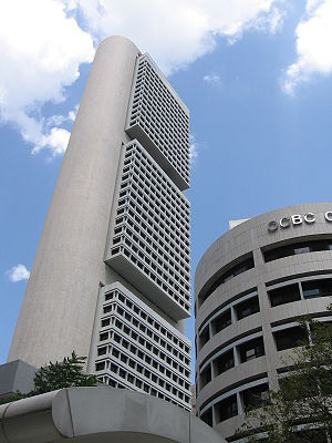 OCBC Bank - The OCBC Centre, located on the southern bank of the Singapore River houses the corporate headquarters of OCBC Bank.