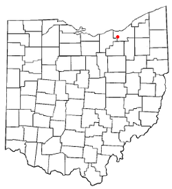 Location of Berea in Ohio