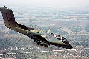 Forward air control during the Vietnam War - A USAF OV-10A firing a white phosphorus smoke rocket to mark a ground target