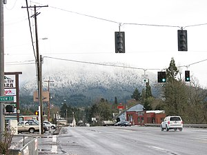 Oakridge, Oregon - Highway 58 in Oakridge