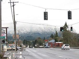Oakridge, Oregon - Highway 58 in Oakridge
