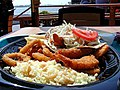 Ocean bays food fried clamari fish rice plate (1).jpg