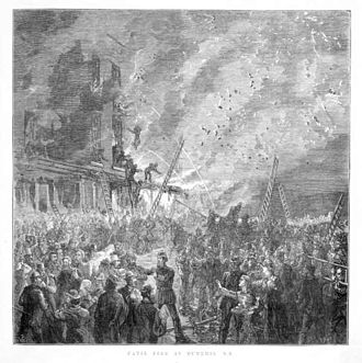 The Octagon, Dunedin - The 1879 Cafe Chantant fire