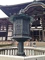 Octagonal Lantern in front of Daibutsuden of Todaiji Temple.jpg