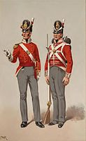 Officer and Private, 40th Foot, 1815