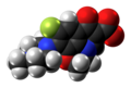 Ofloxacin zwitterion spacefill from xtal.png