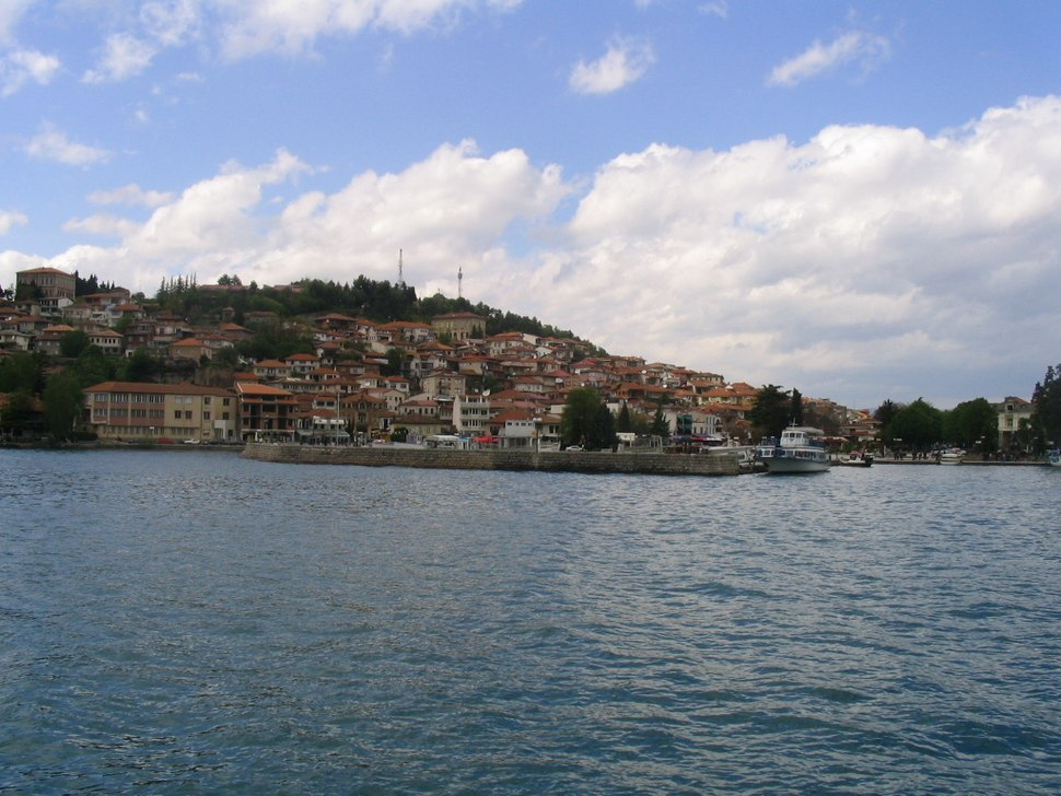 Ohrid viewed from lake