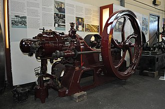 Grantham - Hornsby oil engine at the Museum of Lincolnshire Life