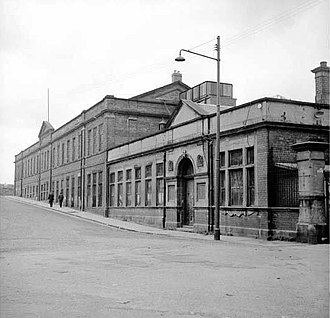 Cowlairs railway works - The former Cowlairs Locomotive Works at Inverurie Street, Springburn in April 1970.