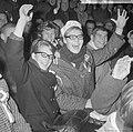Olympische ploeg gehuldigd in Olympisch Stadion te Amsterdam v.l.n.r. op tribune, Bestanddeelnr 917-0927.jpg