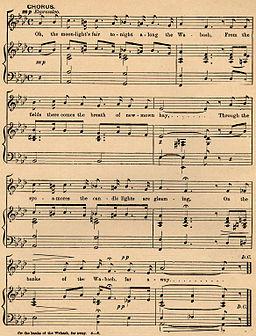 On the Banks of the Wabash, Far Away, chorus sheet music