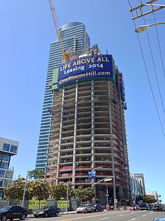 One Rincon Hill, North Tower, under construction.jpg
