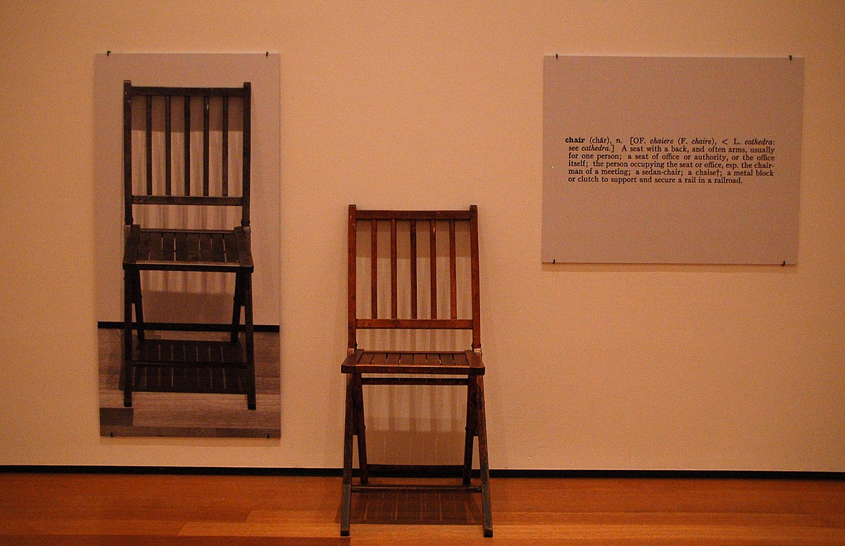 One and Three Chairs — Wikipédia Cairs Chaise on