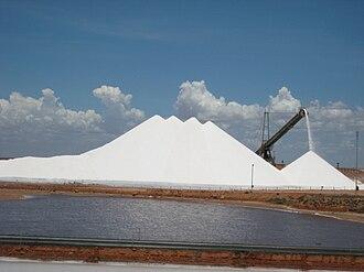 Onslow, Western Australia - Salt mine near Onslow