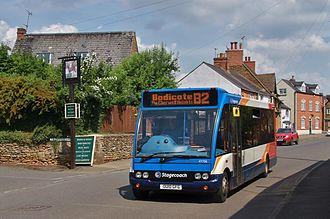 Bodicote - A Stagecoach in Oxfordshire bus on route B2 in Bodicote High Street