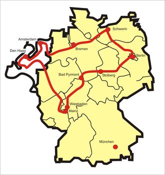 Orange Route - Course of the Orange Route
